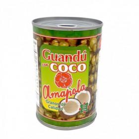 GUANDU CON COCO AMAPOLA 16oz