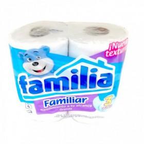 PAPEL HIGIENICO FAMILIAR FAMILIA 4und