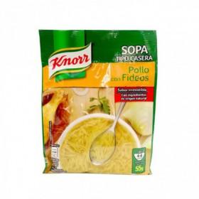 SOPA DE POLLO CON FIDEOS KNORR 55gr