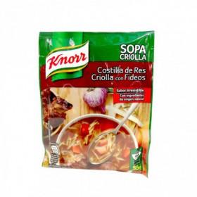 SOPA COSTILLA CRIOLLA FIDEOS KNORR 55g