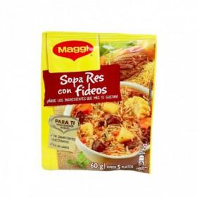 SOPA RES CON FIDEOS MAGGI 60GR