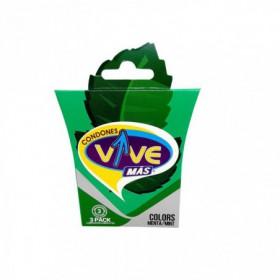 PRESERVATIVO VIVE COLORS MENTA 8X3