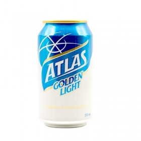 CERVEZA ATLAS GOLDEN LIGHT LATA 355ML