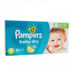 PAÑALES PAMPERS BABY DRY CAJA TALLA 4