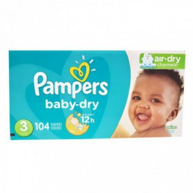 PAÑALES PAMPERS BABY DRY CAJA TALLA 3