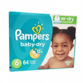 PAÑALES PAMPERS BABY DRY CAJA TALLA 6