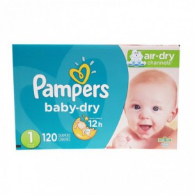 PAÑALES PAMPERS BABY DRY CAJA TALLA 1