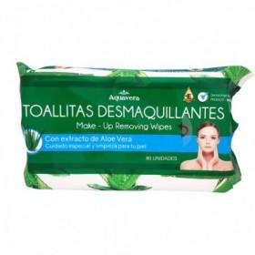 TOALLITAS DESMAQUILLAN ALOE 80