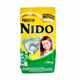 LECHE POLVO NIDO 3+ SOBR 360G